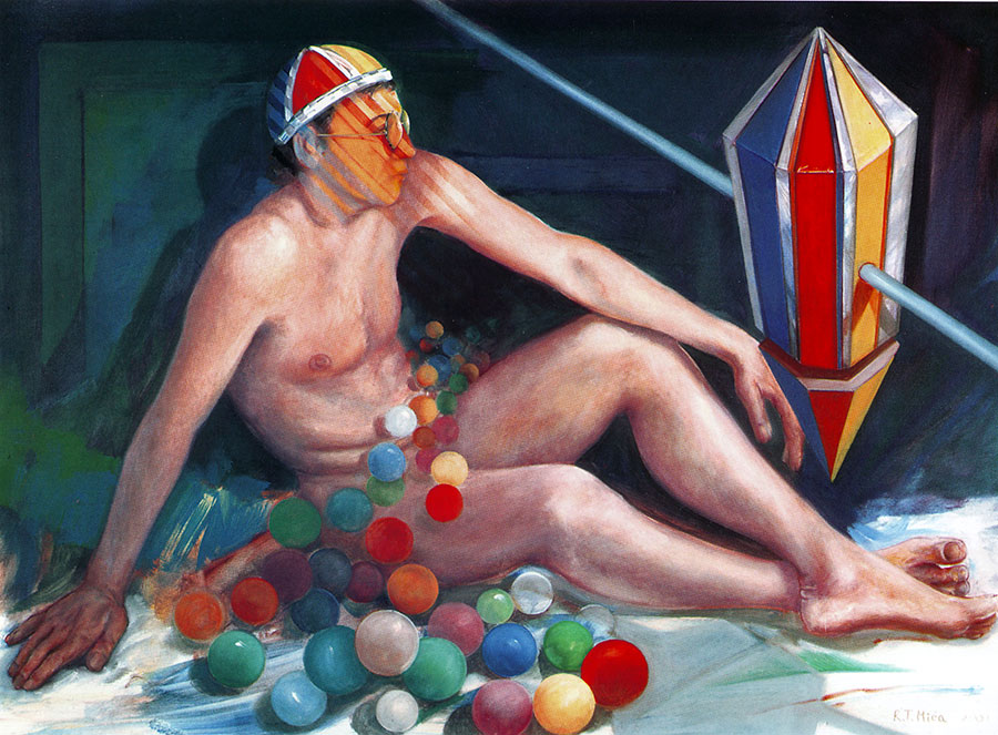 DREAM OR REALITY, 2001, oil on canvas, 50x75 cm next