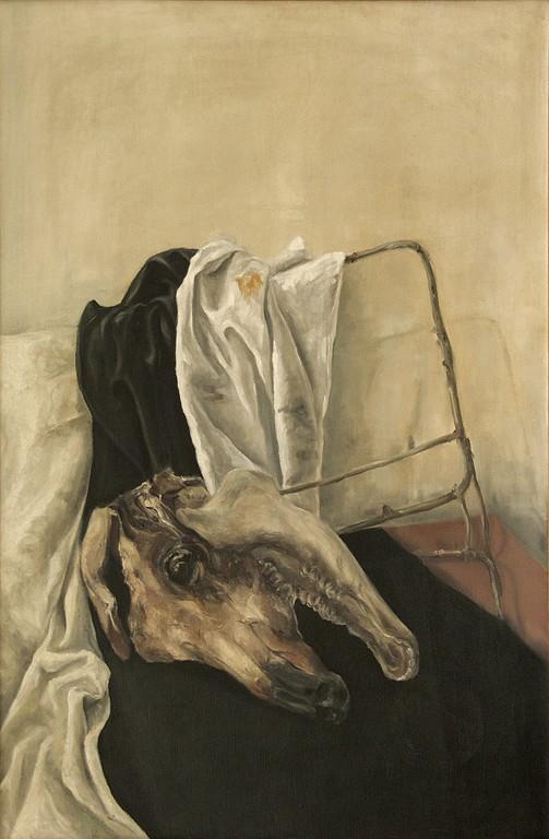 01.Glava Bika, 1973, Ulje Na Platnu, 90x60 Cm