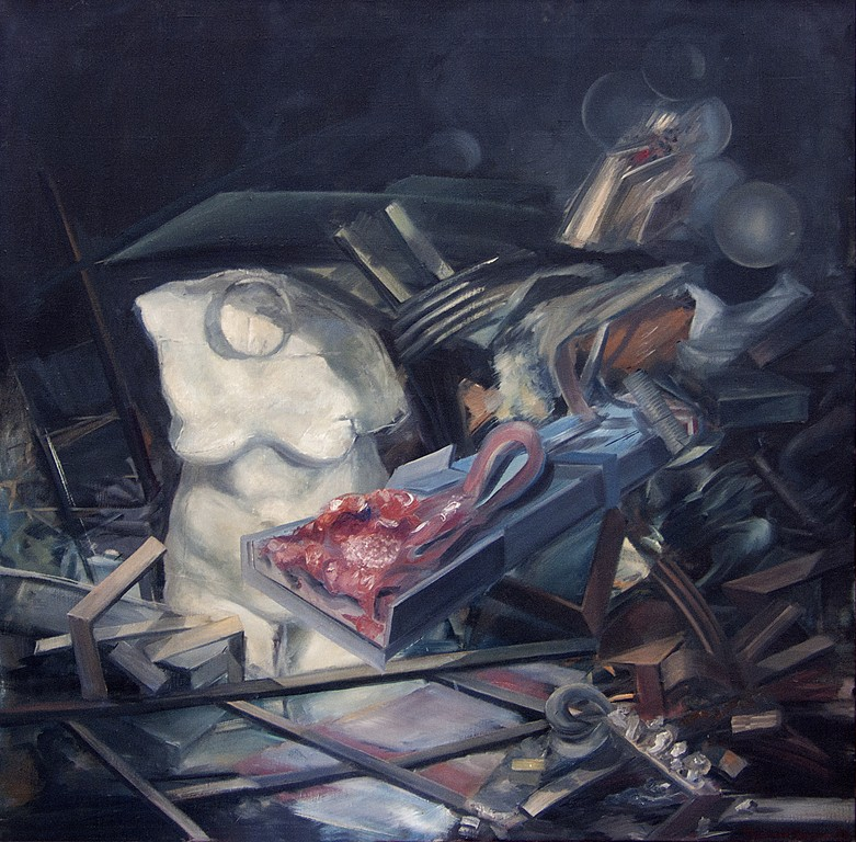 02.Mrtva Priroda, 1978, Ulje Na Platnu, 110x110 Cm