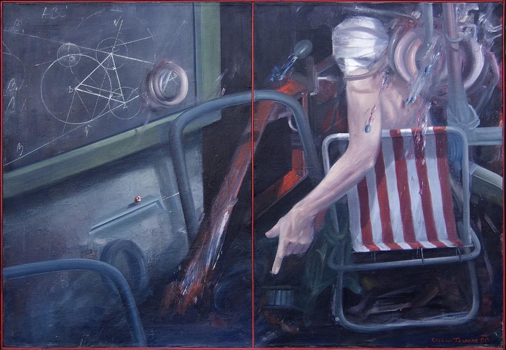 04.Eksperiment, 1979-80,ulje Na Platnu, Diptih, 98x67 Cm Svaka Strana