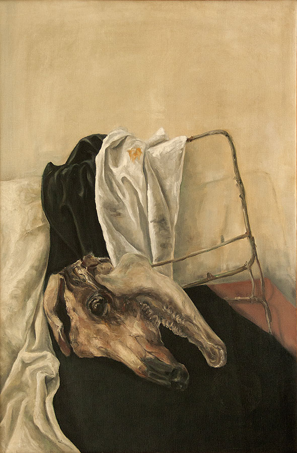 BULL HEAD, 1976, oil on canvas, 90x60 cm