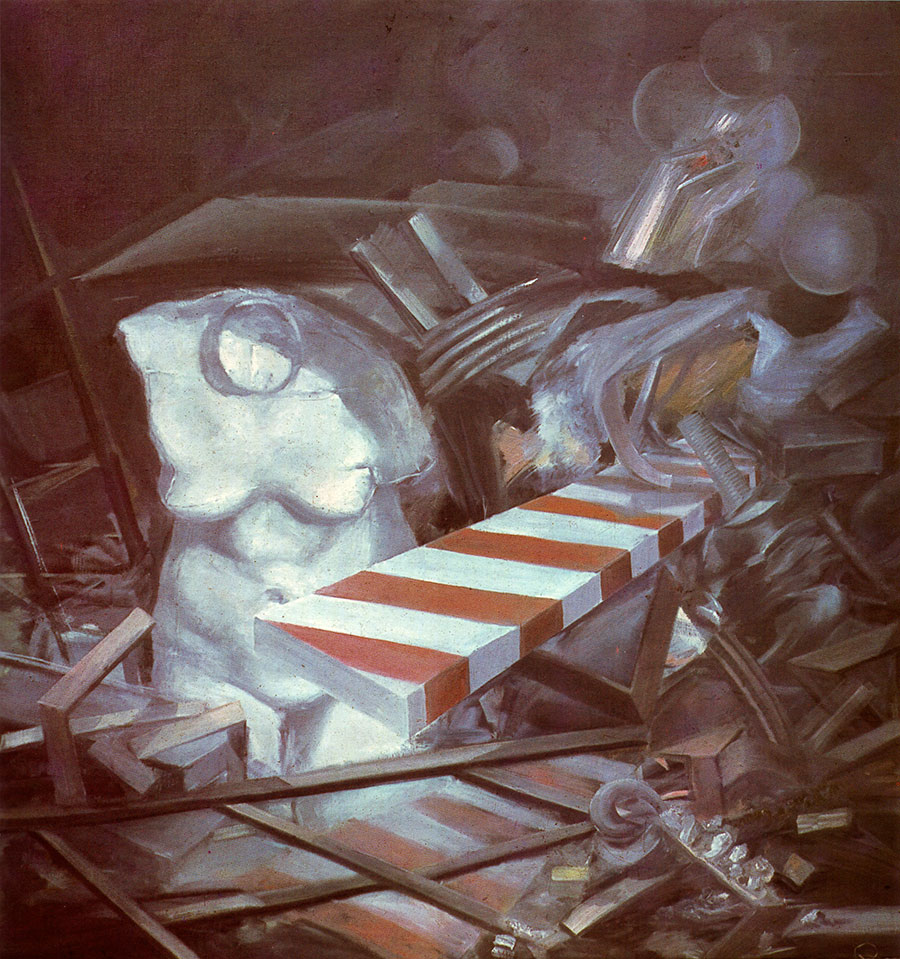 STILL LIFE, 1978, oil on canvas, 110x110 cm