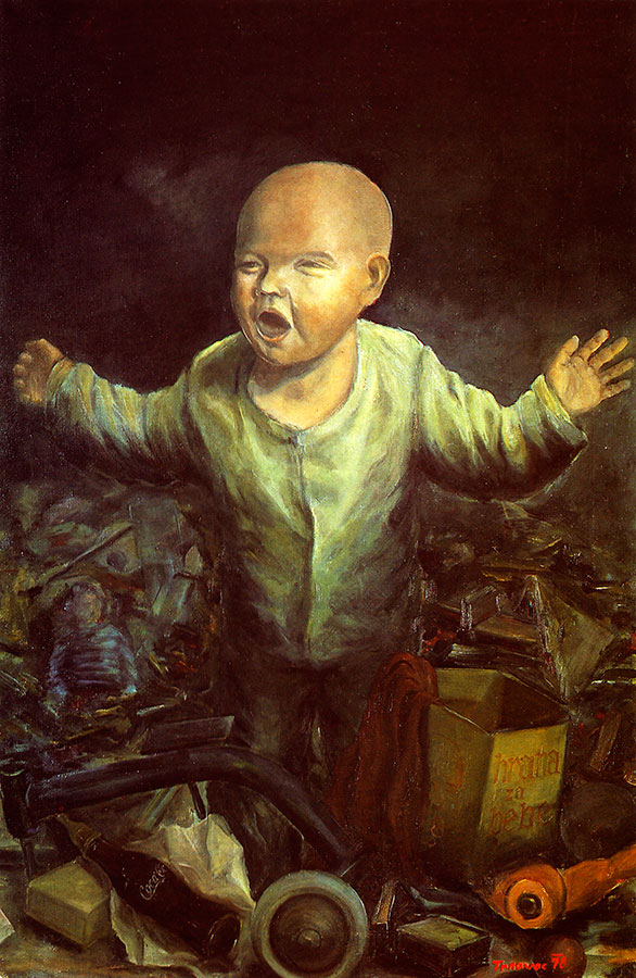 COCA COLA KID, 1978, oil on canvas, 103x67 cm