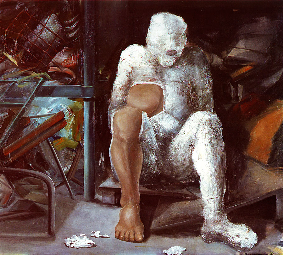 GARBAGE DUMP, 1978, oil on canvas, 130x150 cm
