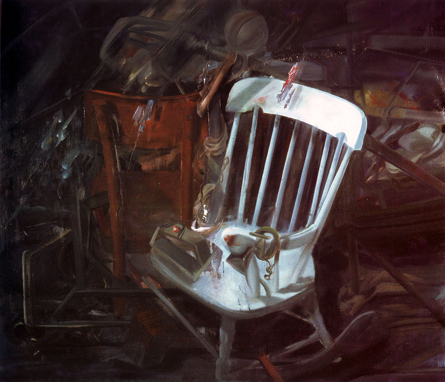 ONE ATTIC IN MY CITY, 1981, oil on canvas, 67x98 cm