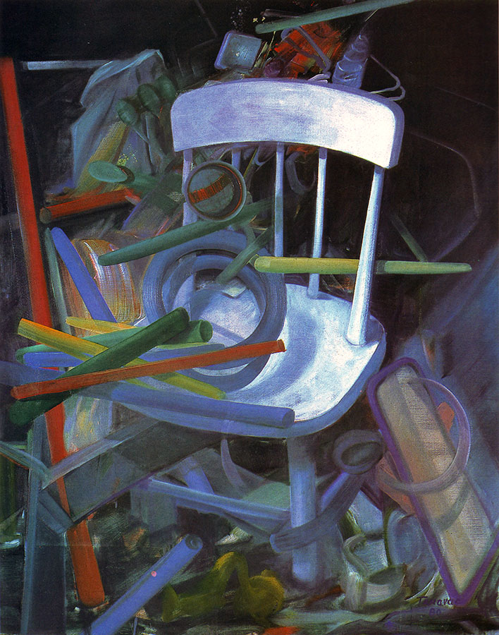 WHITE CHAIR, 1982, oil on canvas, 134x110 cm