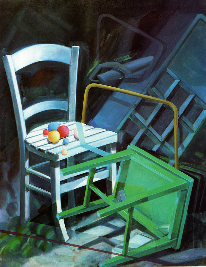 TWO CHAIRS, 1980, oil on canvas, 130x103 cm