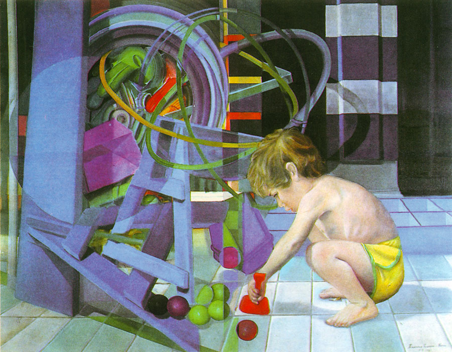 CHILDREN`S GAMES, 1981, oil on canvas, 113x144 cm