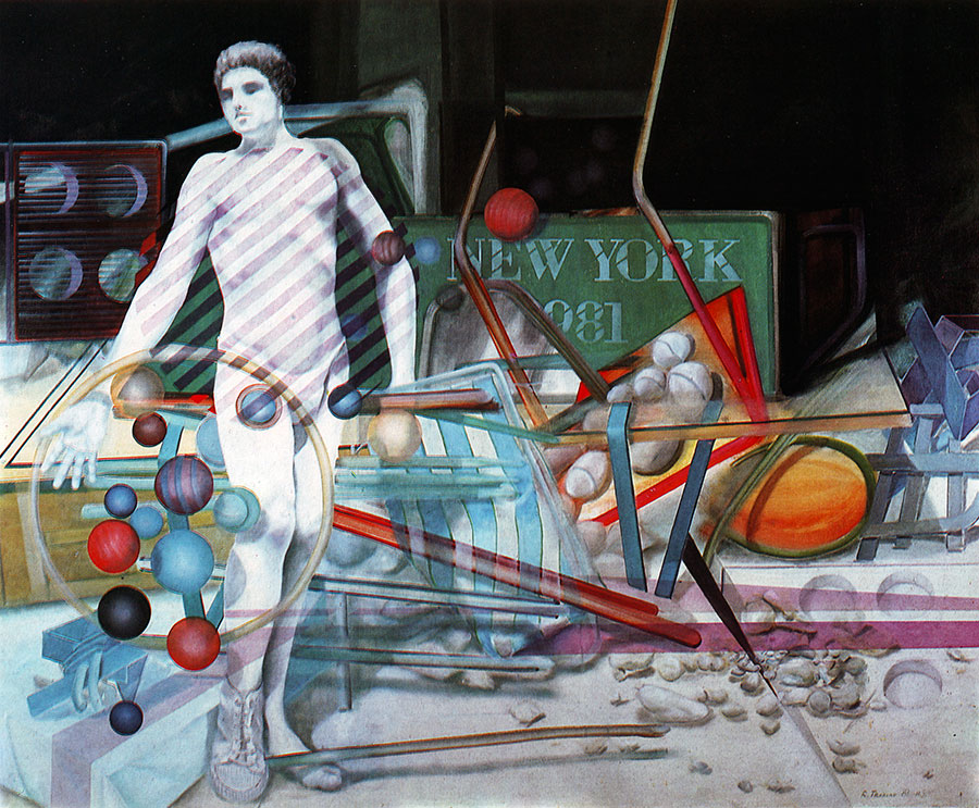 NEW YORK, 1981, oil on canvas, 150x165 cm