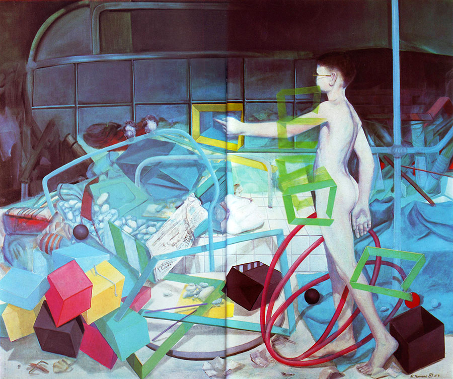 ALONE, 1981, oil on canvas, 150x170 cm