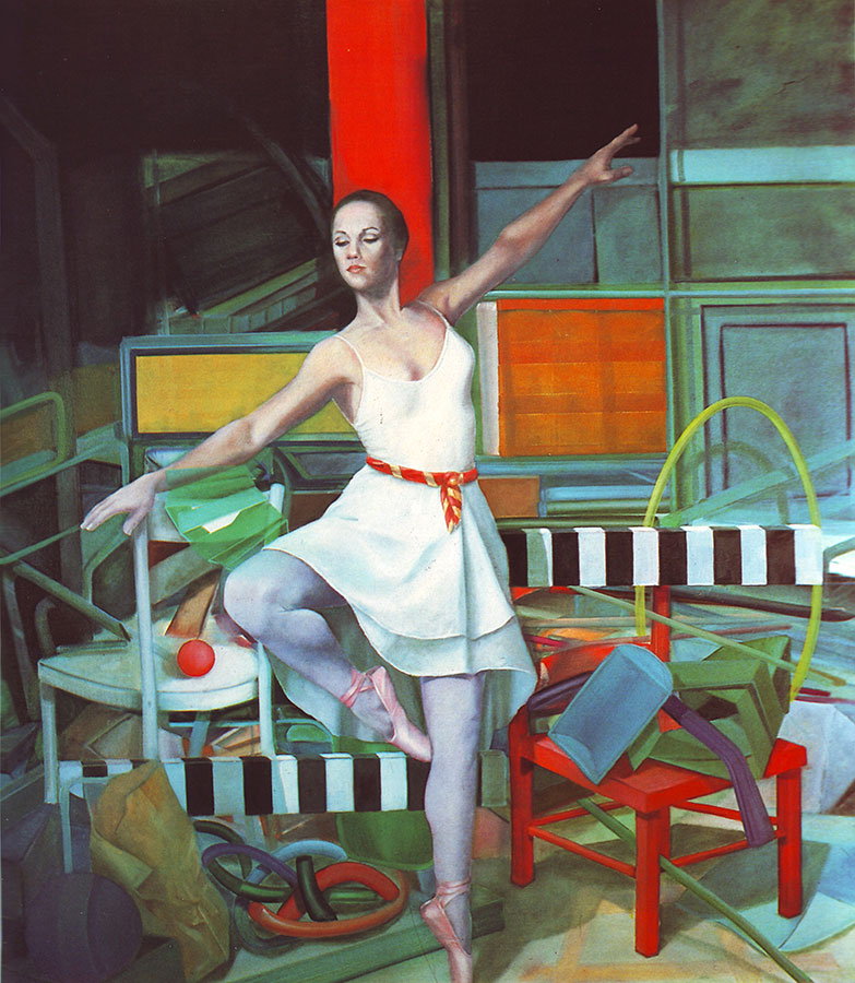 BALLERINA, 1981, oil on canvas, 165x150 cm