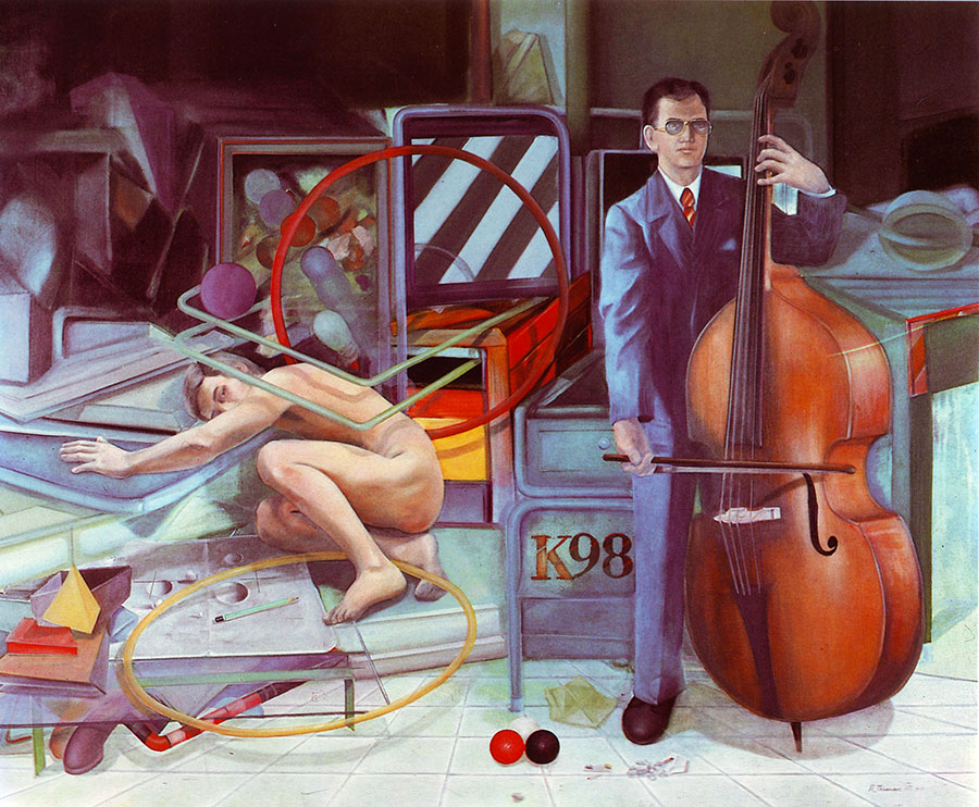 MIDNIGHT OVERTURE, 1981, oil on canvas, 150x170 cm