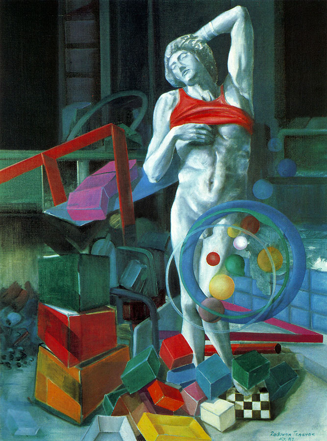MICHELANGELO IN SOHO, 1982, oil on canvas, 67x98 cm