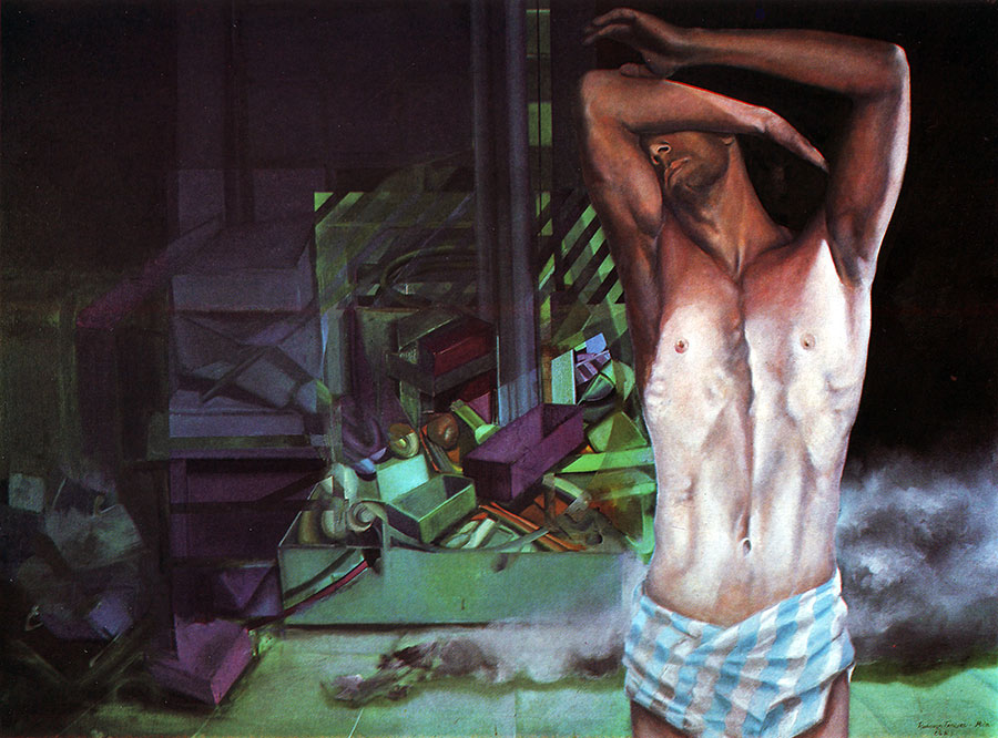 DAWNING, 1982, oil on canvas, 123x170 cm