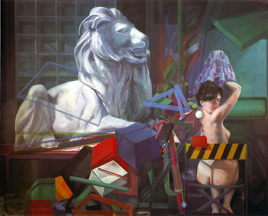 FROM MY STUDIO, 1982, oil on canvas, 153x170 cm