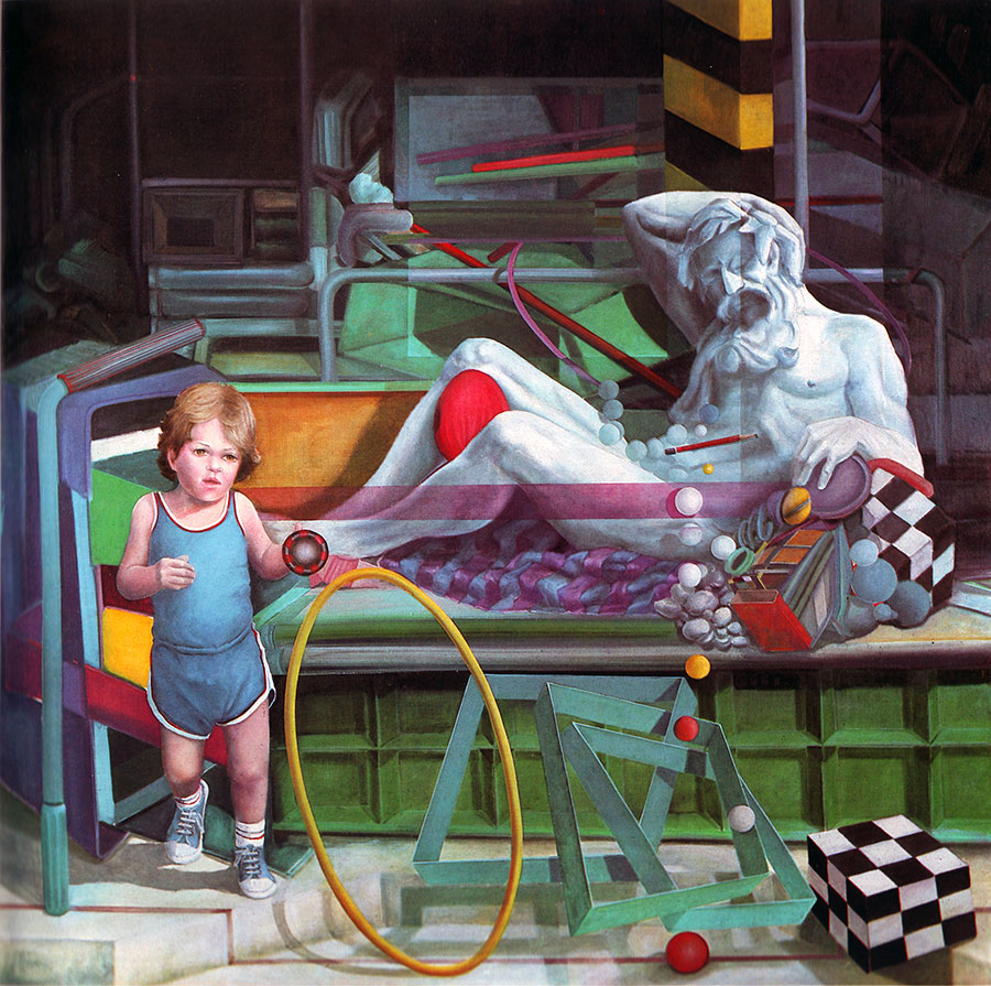 BETWEEN REALITY AND DREAM, 1982, oil on canvas, 170x170 cm