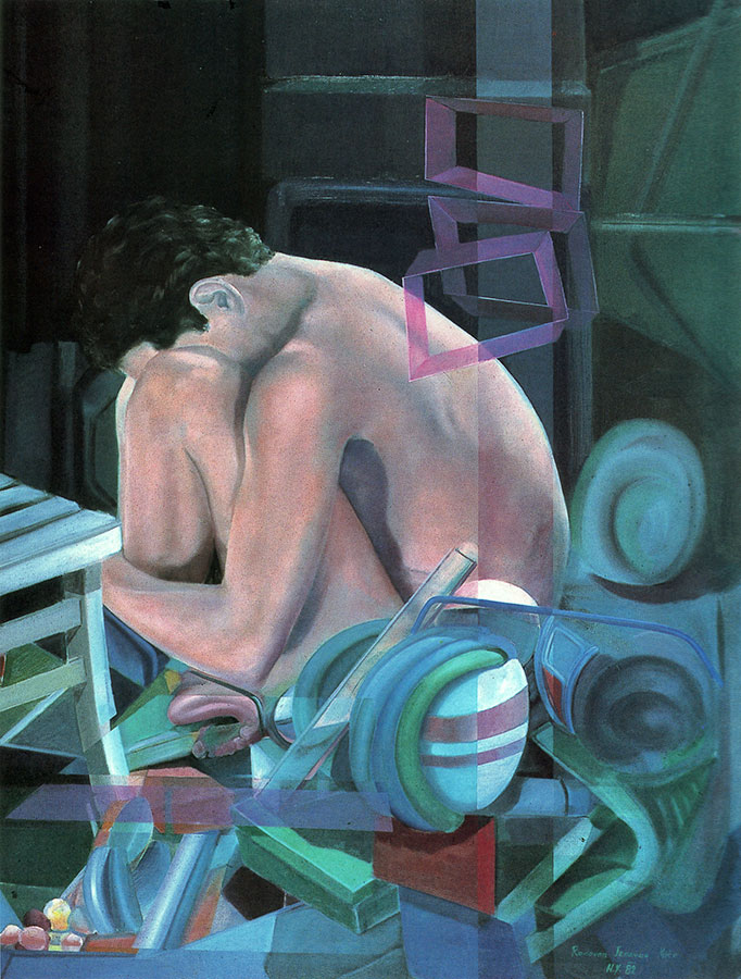 WAITING FOR MIRACLES, 1982, oil on canvas, 125x85 cm