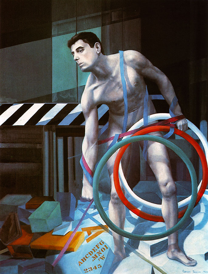 SISYPHEAN TASK, 1983, oil on canvas, 140x110 cm