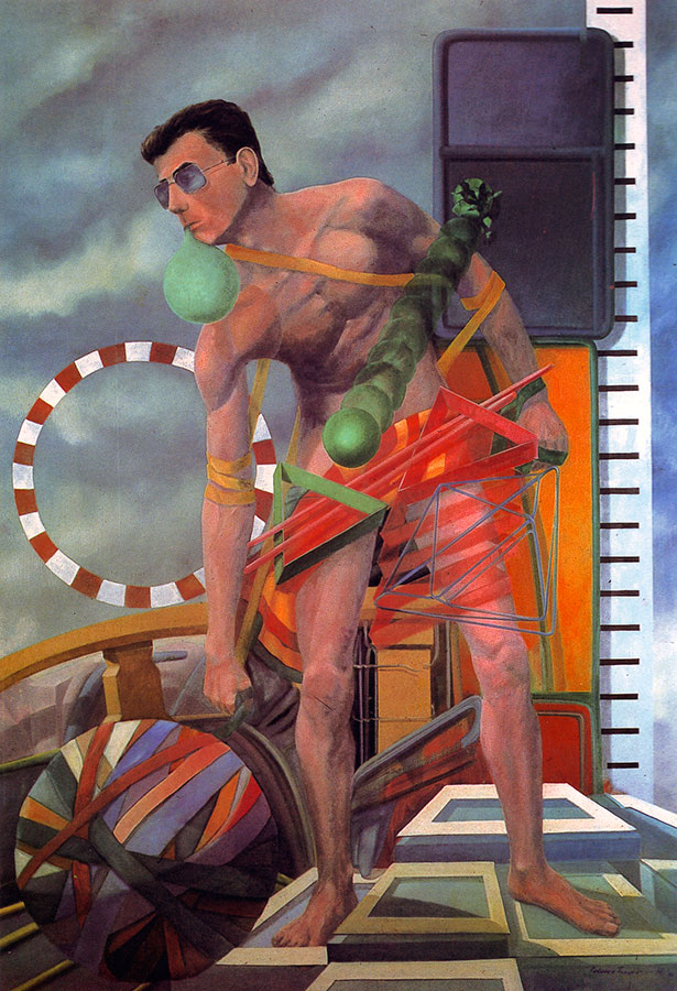 SISYPHEAN TASK II, 1983, oil on canvas, 140x110 cm