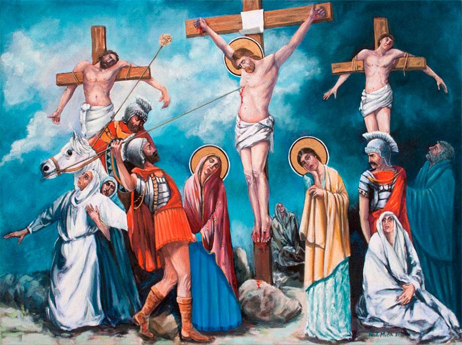 CRUCIFIXION OF JESUS, oil on canvas, 70x50 cm next
