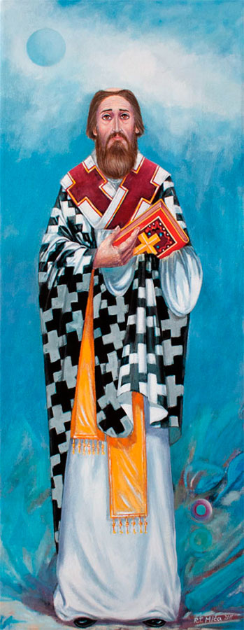 SAINT SAVA 2011, oil on canvas, 90x45 cm Expandnext