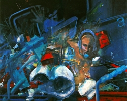 DARK SIDE OF THE EARTH, 1978, oil on canvas, 150x130 cm