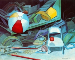 NEW ATOMIC EXPERIENCE, 1984, oil on canvas, 62x77 cm