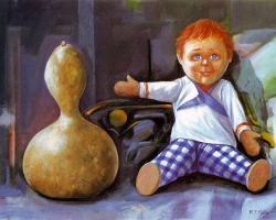 TOYS OF DIFFERENT GENERATIONS, 2001, oil on canvas, 50x75 cm next