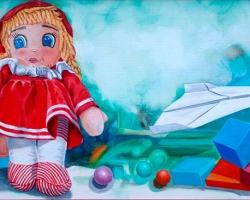CHILDREN'S GAMES, 2009, oil on canvas, 90x40 cm next