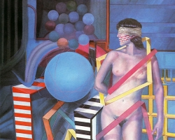 NEW AGE OF THINKING, 1988, oil on canvas, 153x123 cm